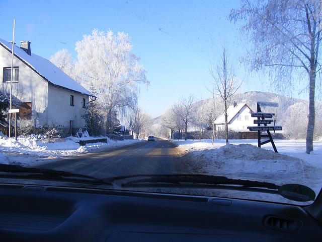 Sauerland Winter Januar 2009 on Road