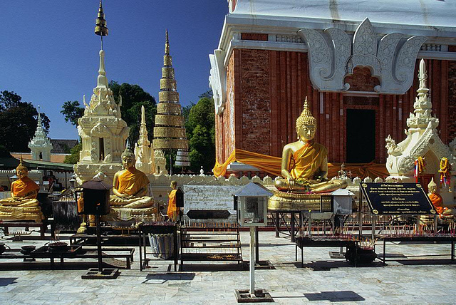 In the yard of That Phanom