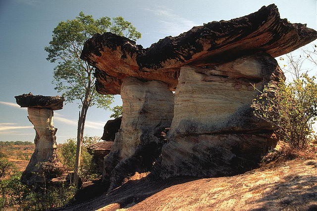 Stone formations in the Pha Thaem National Park