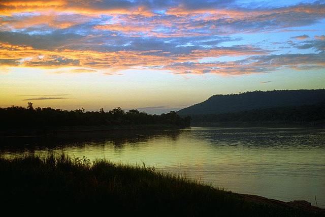 Sunset at the Maenam Mun riverside