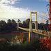 Pedestrian bridge across the Maenam Mun