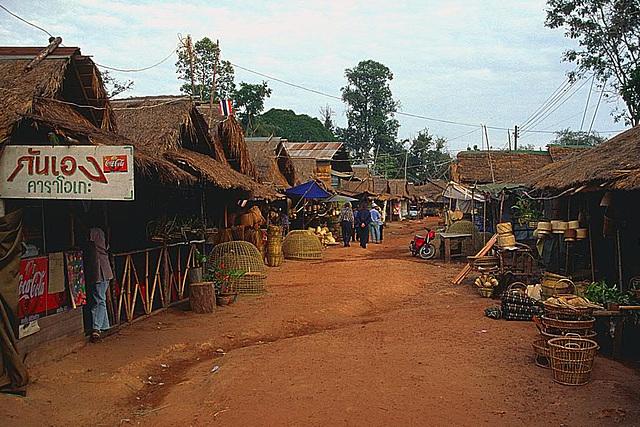 The market in Chong Mek