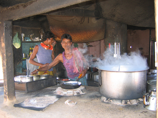 Steam in dhaba