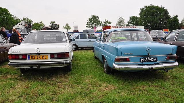Oldtimershow Hoornsterzwaag – 1982 & 1967 Mercedes-Benz 200 D