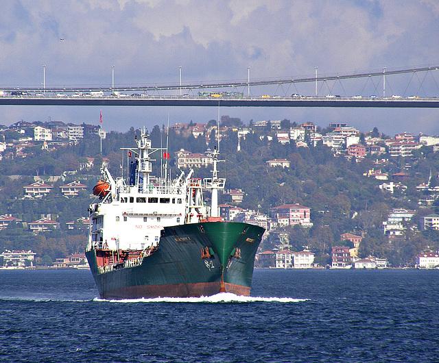 Sailing between continents