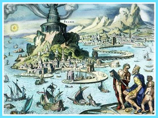 Le Phare d'Alexandrie, gravure ancienne