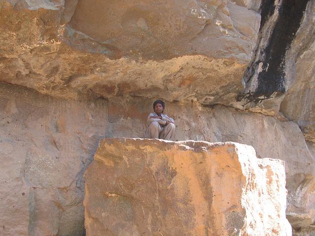 tribal on rock