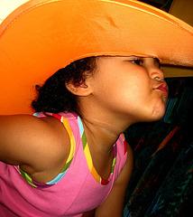 Rafaela, precocious glamourous pose