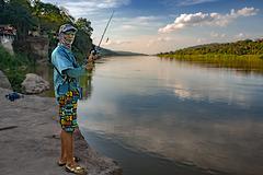 Wat Hin Mak Peng at the riverside of Mekong
