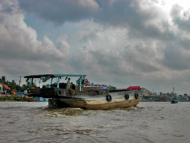 Barge on the Hậu Giang River