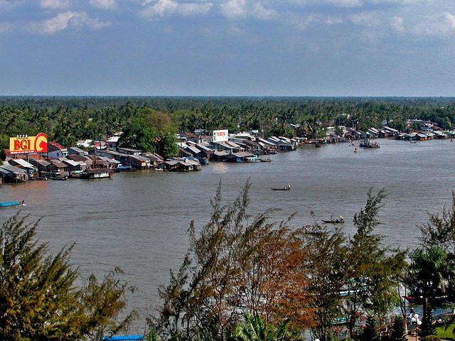 View to Ben Ninh Kieu landmark at the Mekong Delta