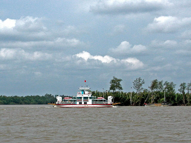 The ferry across a delta branch