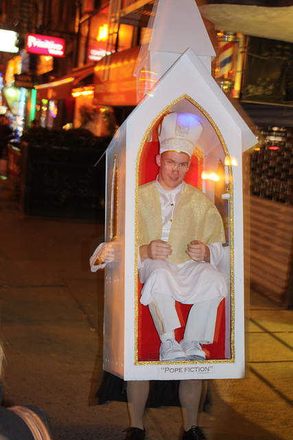Pope fiction! Best Halloween costume EVER !