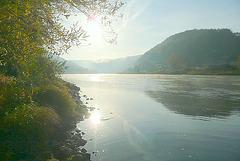 Die Elbe - vor meinem Haus - antâu mia domo