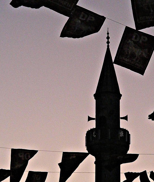 Flags and minaret