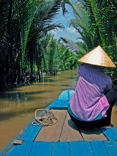 A small channel at the Mekong Delta