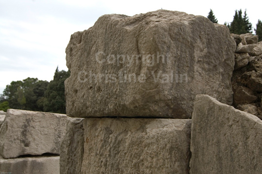 notice the size of thee stone blocks.