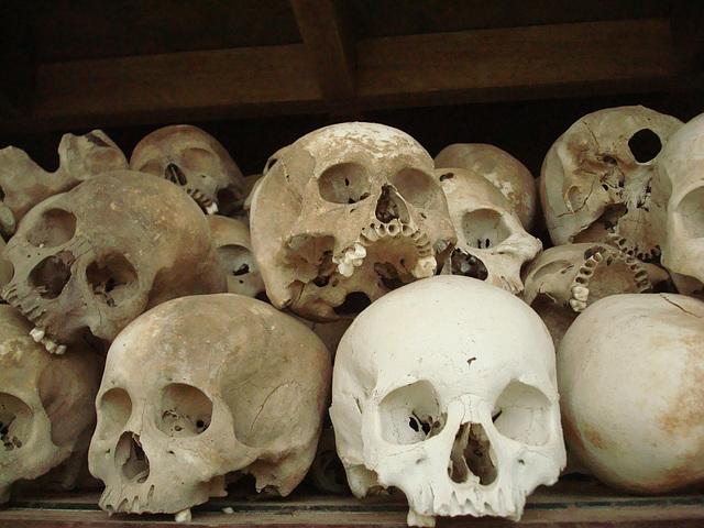real skulls of the killing fields