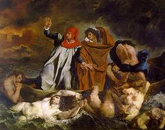 La Barque de Dante, œuvre de Eugène Delacroix
