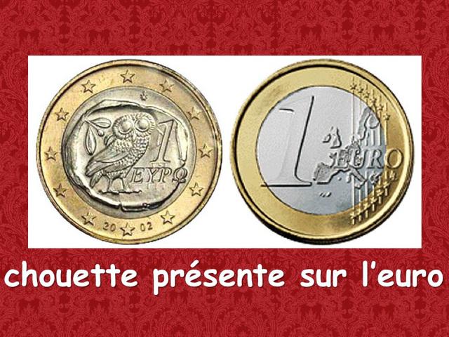 Chouette sur l'Euro en Grèce