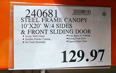 Costco Shelter Price Cut