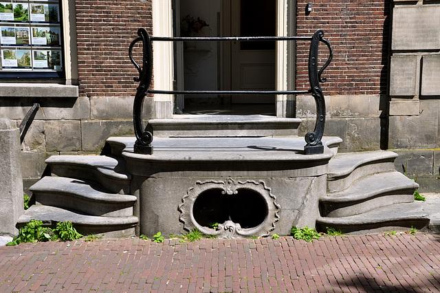 Entrance on the Rapenburg in Leiden