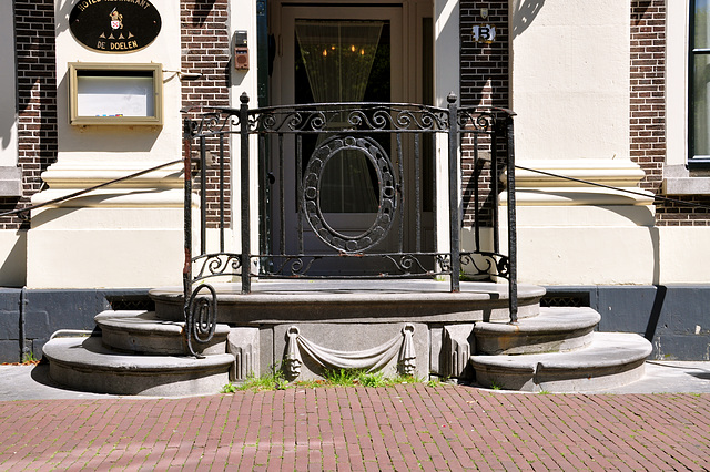 Entrance on the Rapenburg in Leiden