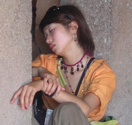 jeune endormie