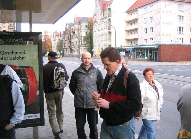 2008-10-19 01 Wandertruppe, Weissig - Heidenau