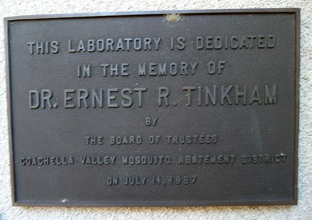 CVMVCD Dr. Ernest R. Tinkham Plaque (1935)