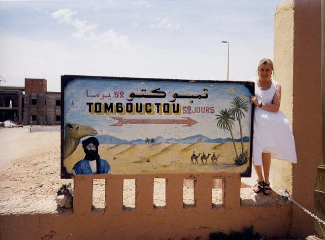 Daniela à Zagora, Maroc (07/10/2003)