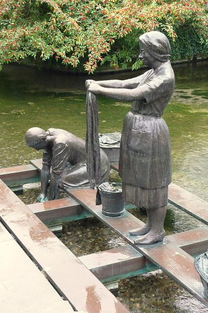 Die Waschfrauen an der 'Warmen Pader'