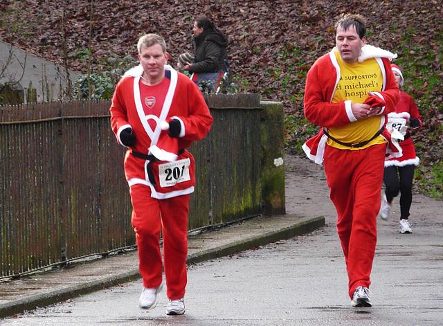 St Michael's Hospice Santa Run 1