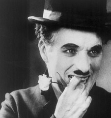 Chaplin with flower