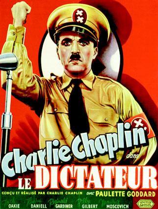 Charlie Chaplin:  dictator poster