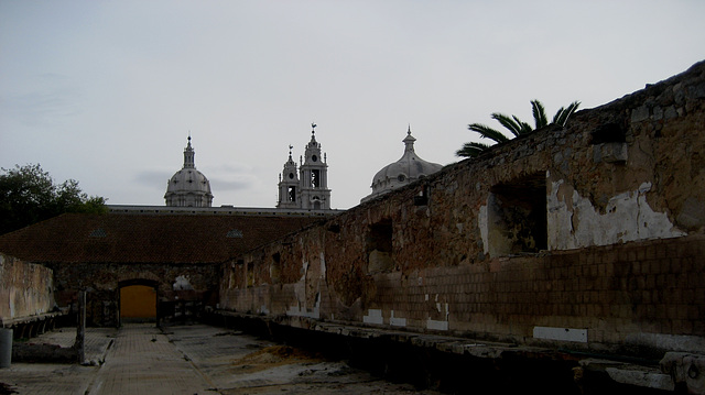 Palace and Convent of Mafra, seen from the old conventual laundry (1)
