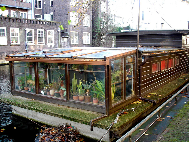 Botanical floating house / Jardin botanique flottant.