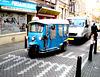 Amsterdam -  Un bleu roulant typique !! Cute Blue Taxi !