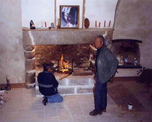 Travaux terminés, premier feu dans la cheminée