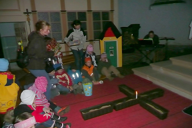 Martinszug und Feier in der Kirche