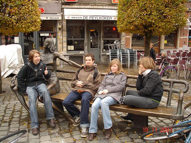 Louvain-Leuven/ Belgique - Teenagers charming Quartet- With permission-  Quatuor de jeunes Belges avec permission.