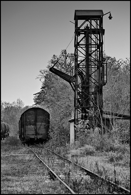 The coal loading tower