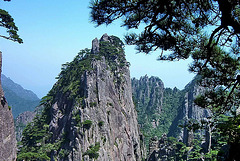 IM000645ac Huangshan Shixin Peak a Forest of Peaks Needles and Vivacious Pines