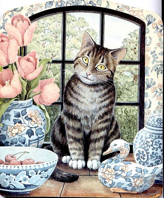 Chat Ternura qui ronronne... ça sent le chat peint !