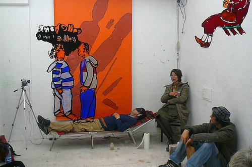 Situation Sprechstunde im Wagnerraum. Oktober 2008