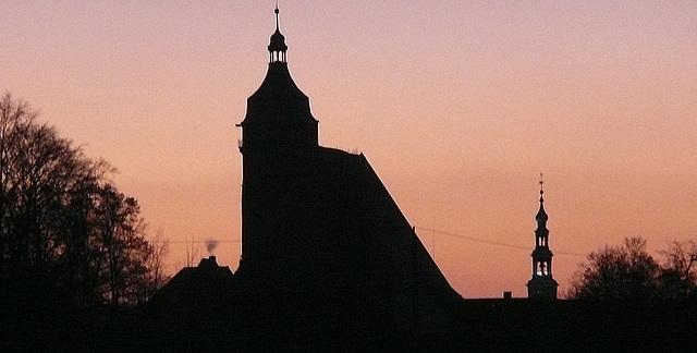 Abenddämmerung über Pirna