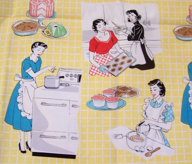 "Retro ""bake sale"" fabric"