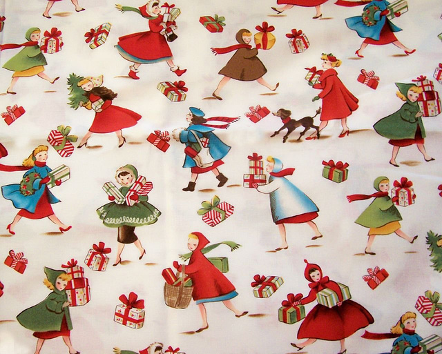 Retro Christmas Fabric Christmas Decore