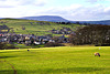 Pendle Hill and Trawden village.