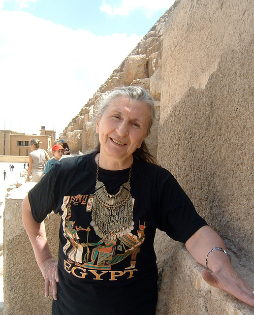 Daniela à Gizeh, Egypte